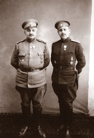 Third Army (Bulgaria) - The commander of the forces at Tutrakan, General Kiselov with his chief of staff Colonel Noykov.