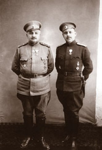 Battle of Turtucaia - Maj. Gen. Kiselov with his chief of staff Lt. Col. Noykov.