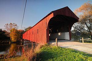 West Montrose Covered Bridge - Image: Kissing Bridge David Sullivan