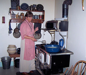 Kitchen - A typical rural American kitchen of 1918 at The Sauer-Beckmann Farmstead, Texas