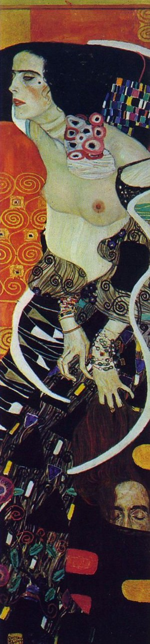 Judith and the Head of Holofernes - Judith II by Klimt.
