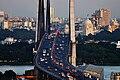 Kolkata City skyline from Hoogly bridge.jpg