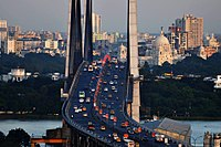Kolkata City skyline from Hoogly bridge.jpg