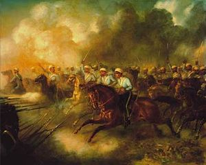 Anglo-Persian War - Battle of Kooshab (1856) by unknown artist
