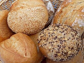 Bread - Image: Korb mit Brötchen