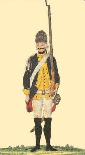 Army of Württemberg - A Württemberg infantryman