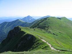 The main ridge of the Kriváň Lesser Fatra.