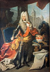 Charles III  Philipp von der Pfalz in armor, J. Ph. Van der Schlichten, around 1733