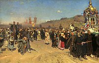 Easter Procession in the Region of Kursk. Oil on canvas. 175 × 280 cm. The State Tretyakov Gallery, Moscow.