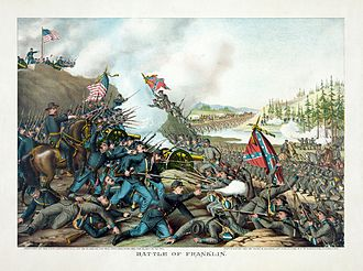 Battle of Franklin (1864) - Battle of Franklin, by Kurz and Allison (1891).