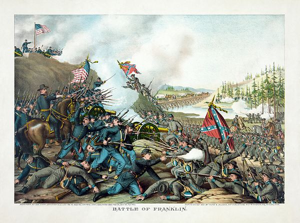 The Battle of Franklin, November 30, 1864. Kurz and Allison - Battle of Franklin, November 30, 1864.jpg