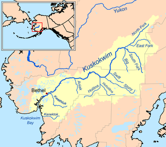 Kuskokwim River - Image: Kuskokwimrivermap