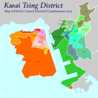 Kwai Tsing District - Constituencies in 2003 District Council Election.