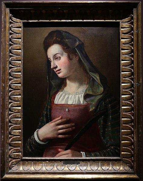 File:L'empoli, ritratto di donna in veste di santa margherita, 1600 (coll. priv.).jpg