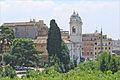Léglise de la Trinita dei Monti vue depuis la villa Médicis (Rome) (5841267741).jpg