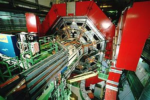 L3 experiment - The muon spectrometer on the L3 detector at LEP with the magnet doors open. L3 was an experiment at the LEP collider (1989 to 2000)