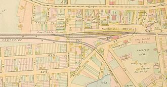 Jamaica (LIRR station) - A map of the station in 1891