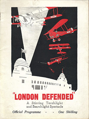 "British Empire Exhibition - ""London Defended"" 1925 Official Programme"