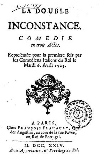 Double Inconstancy - Title page from the first edition of La Double Inconstance
