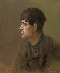 Half-Figure of a Young Man from Profile