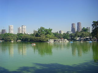 Chapultepec Urban park and hill in Mexico city