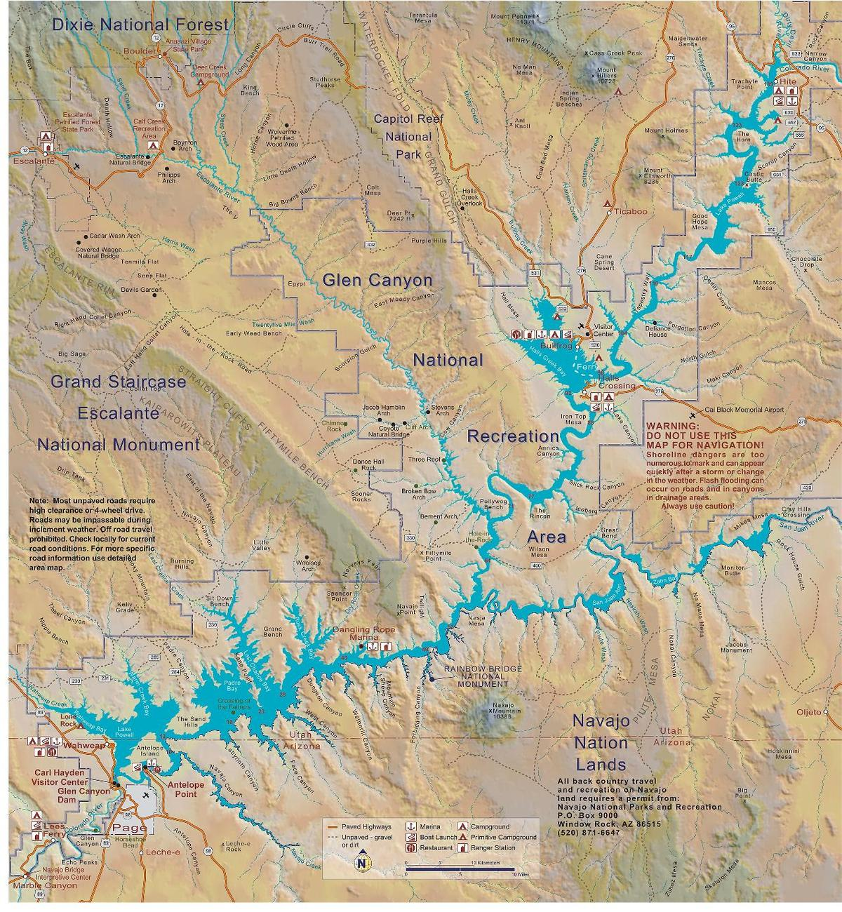 lake powell utah map File Lake Powell Map Pdf Wikimedia Commons lake powell utah map