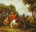 Lambert de Hondt the Younger - Equestrian fight at the foot of a mountain - Oil on canvas, 1681.jpg