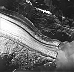 Lamplugh Glacier, tidewater glacier terminus with dark lateral moraines, Augut 12, 1980 (GLACIERS 5590).jpg