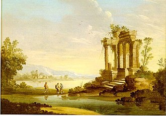1797 in art - Image: Landscapewith Templein Ruin 1797