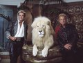 Las Vegas, Nevada's headlining illusionists Siegfried & Roy (Siegried Fischbacher and Roy Horn) in their private apartment at the Mirage Hotel on the Vegas Strip, along with one of their LCCN2011634016.tif