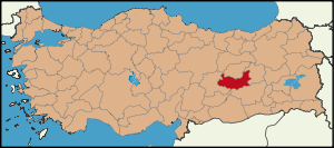 Latrans-Turkey location Elazığ.svg