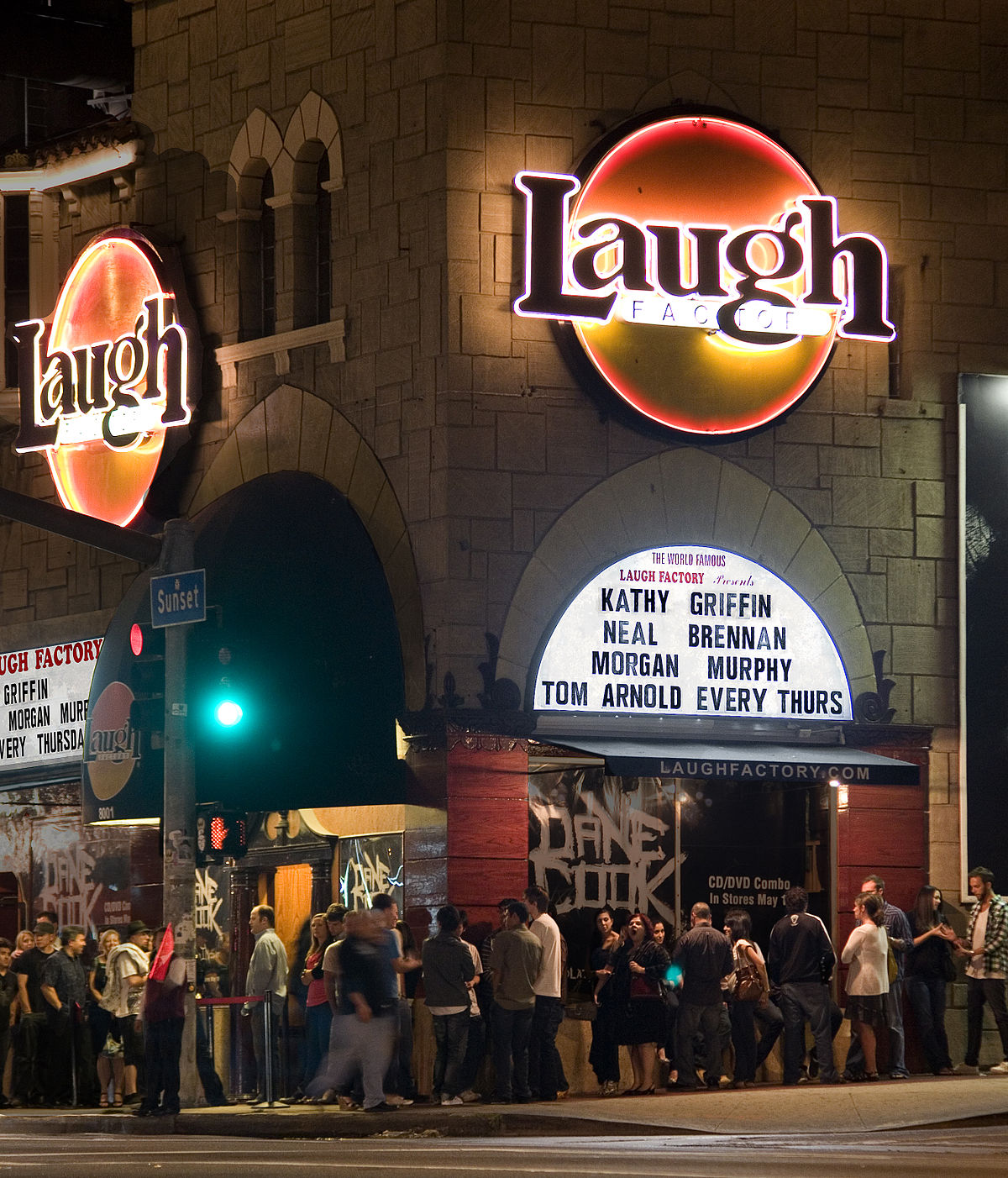 In a nutshell, the Laugh Factory is where to go if you want to see comedy celebrities. Its round glowing orange sign is an iconic image synonymous with LA comedy.
