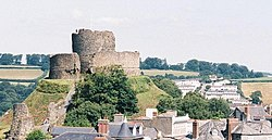 Launceston, castle over rooftops - geograph.org.uk - 571483.jpg