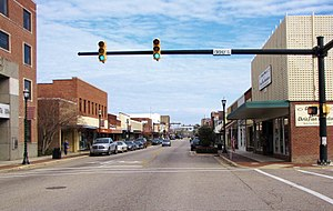 Laurinburg, North Carolina - Main Street in Laurinburg