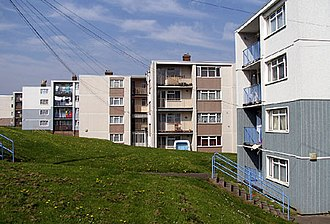 Lawrence Weston, Bristol - Council owned flats in Long Cross, Lawrence Weston