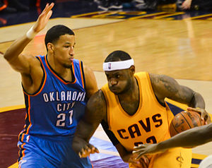 André Roberson - Roberson defends LeBron James in January 2015