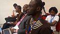 Le président de Wikimedia Côte d'Ivoire attentif aux différents discours.jpg