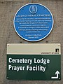 Leeds Uni Cemetery Lodge sign 25 August 2017.jpg