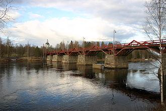 Skellefte River - Lejonströmsbron in Skellefteå