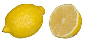 Lemon - Lemon external surface and cross-section