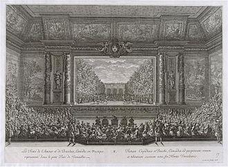 Royal Opera of Versailles - Image: Les Fêtes de 1668 données par Louis XIV à Versailles Amour Bacchus