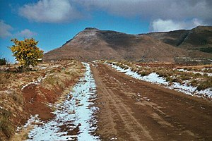 Lesotho Highlands - Snow near Malealea village in the Lesotho Highlands