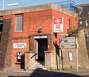 Levenshulme railway station - Front entrance to Levenshulme Railway Station