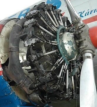 Shvetsov ASh-62 - Shvetsov ASh-62 installed in a Lisunov Li-2 (Cowling removed).