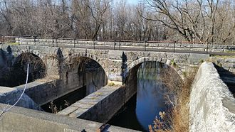 Manlius, New York - Old Erie Canal aqueduct over Limestone Creek