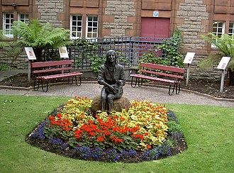 Linda McCartney - The Linda McCartney Memorial Garden and bronze statue, in Kintyre, Scotland