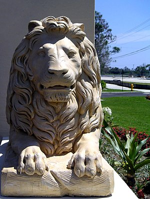 Tribe of Judah - The lion is the symbol of the Tribe of Judah. It is often represented in Jewish art, such as this sculpture outside a synagogue