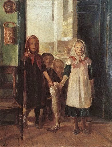 Little Girl with a Cod (Anna Ancher)
