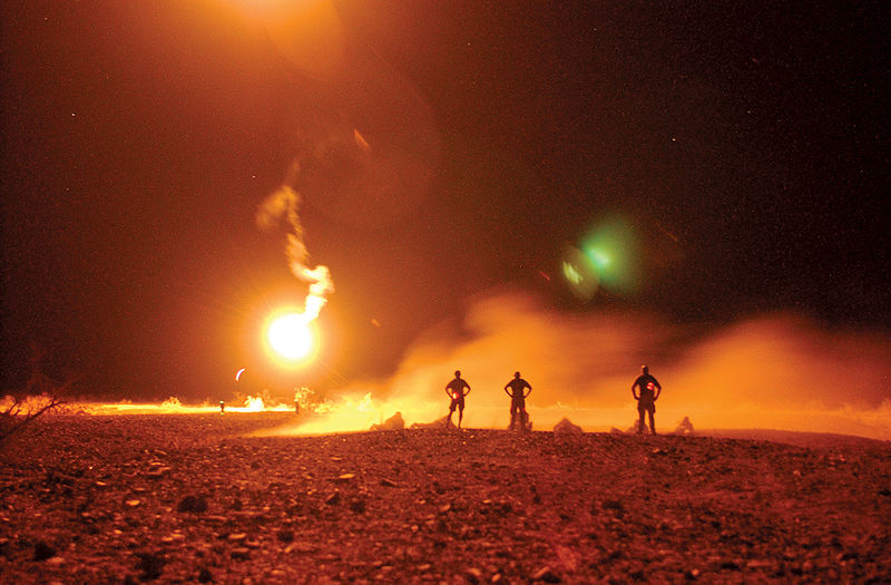 File:Live fire exercise in the California desert.jpg