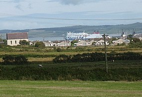 Llaingoch - and a departing Stena Ferry - from Twr - geograph.org.uk - 1443449.jpg